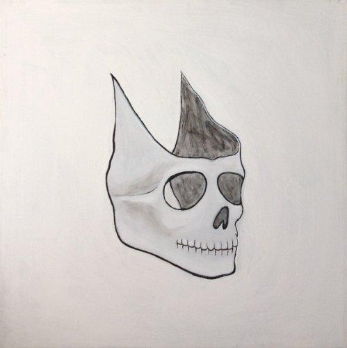 Maschera - acrilico su tela 60x60 cm